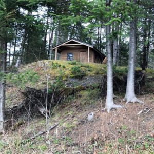 cabin from river bed