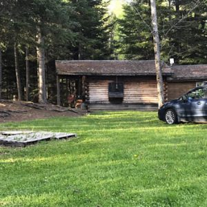 cabin with car